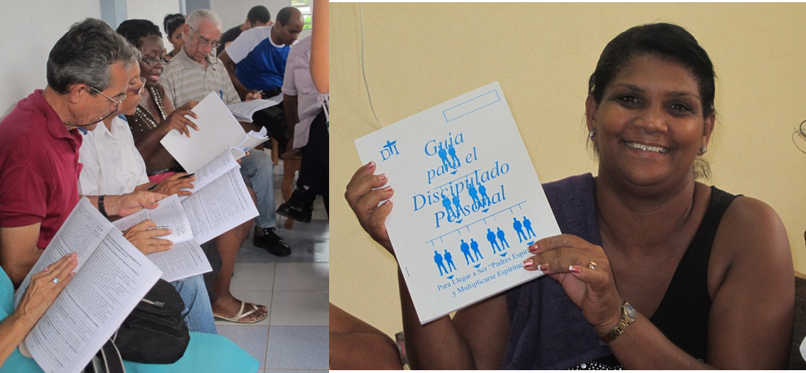 cuban discipleship students with the DTI manuals